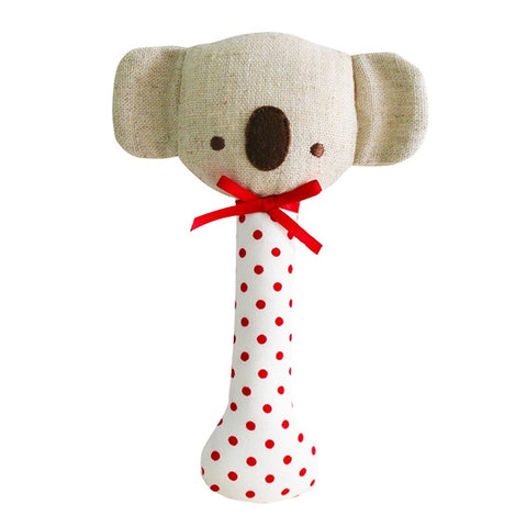ALIMROSE | Baby Koala Stick Rattle Red Spot