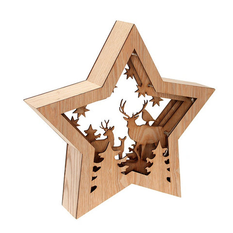 Star Deer Silhouette Natural