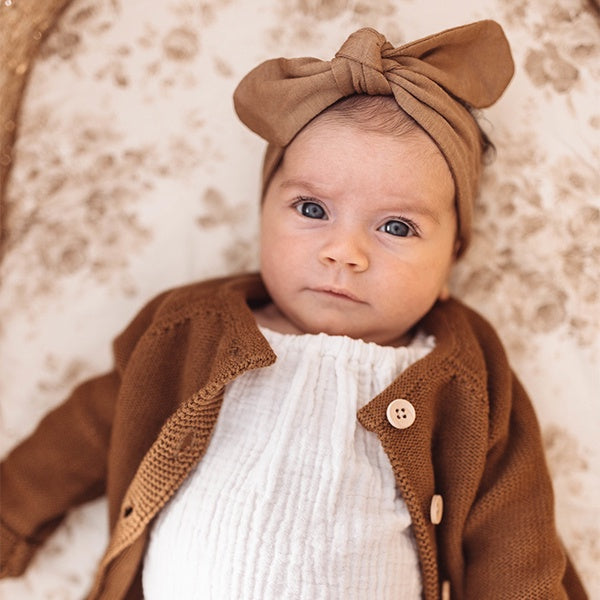 SNUGGLE HUNNY KIDS | Top Knot Headband - Caramel