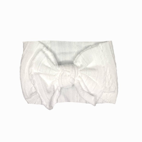 ARCH N OLLIE | Cable Knot Stretch Bow White
