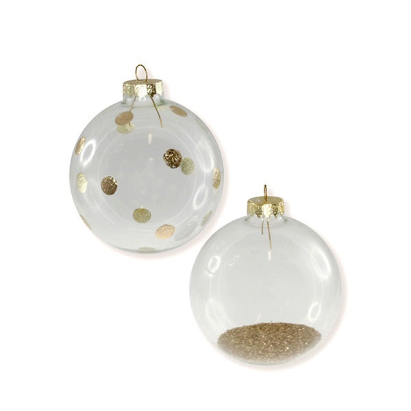 Glass Ball Ornaments 2 Pack