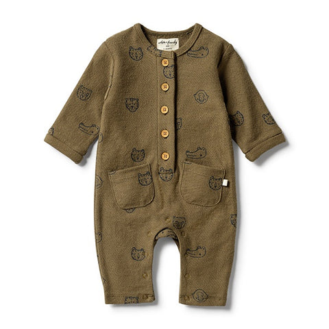 WILSON + FRENCHY | French Terry Slouch Growsuit Little Faces