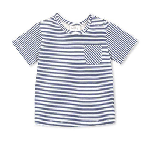MILKY | Blue Stripe Tee
