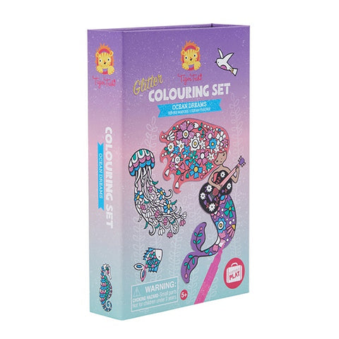TIGER TRIBE | Glitter Colouring Set - Ocean Dreams
