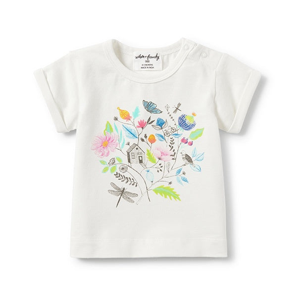 WILSON + FRENCHY | Rolled Cuff Tee Secret Garden