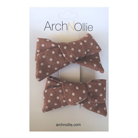 ARCH N OLLIE | August Linen Piggy Clips Spice Small Polka