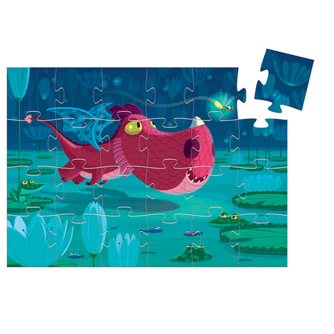 DJECO | Edmond The Dragon - 24pc Silhouette Puzzle