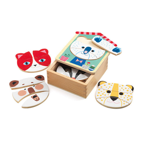 Face Mix Wooden Puzzle Set