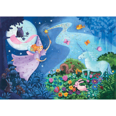 DJECO | The Fairy & The Unicorn - 36pc Silhouette Puzzle