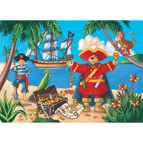 The Pirate & His Treasure - 36pc Silhouette Puzzle