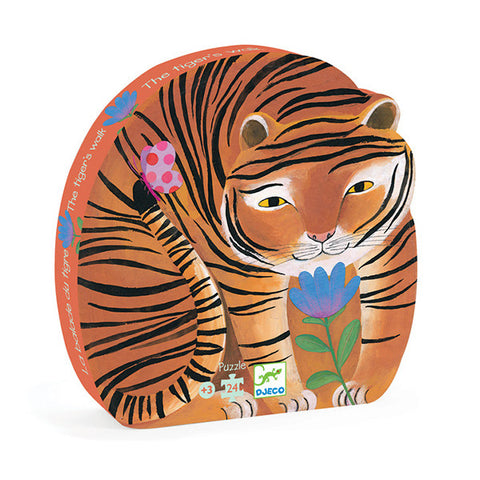 DJECO | The Tiger's Walk - 24pc Silhouette Puzzle