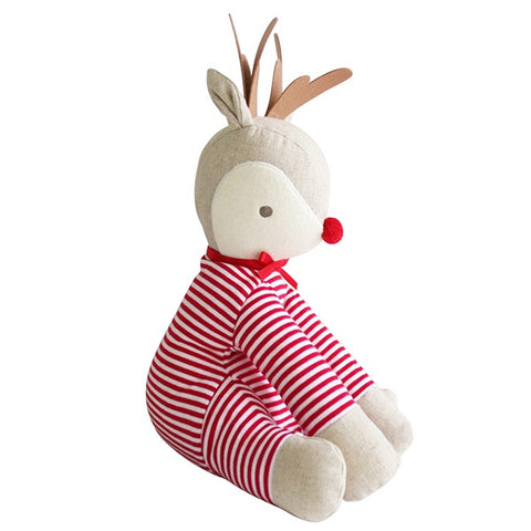 ALIMROSE | Sitting Rudolph Red Stripe