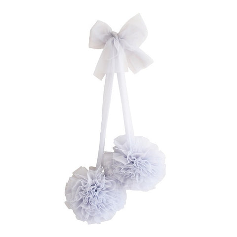 Alimrose Tulle Pom Pom Decor Set - Mist