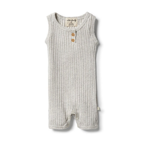 WILSON + FRENCHY | Organic Growsuit Grey Marle