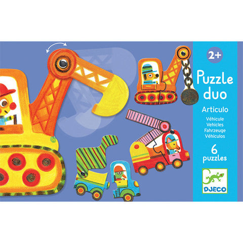 DJECO | Duo Vehicles Set - 6 Puzzles