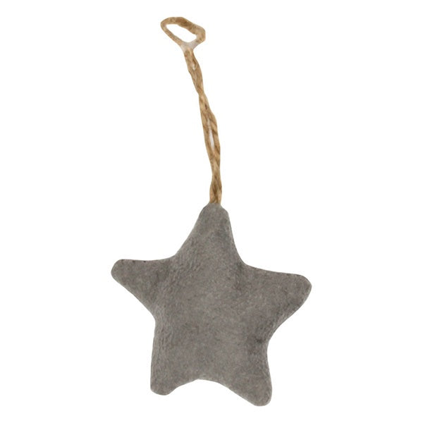 Star Ornament Grey Velvet