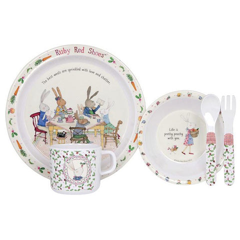 ASHDENE | Ruby Red Shoes 5 Piece Aware Kids Dinner Set