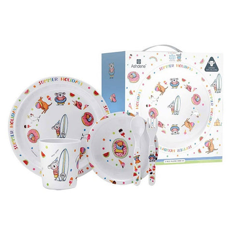 ASHDENE | Summer With Barney 5 Piece Kids Dinner Set