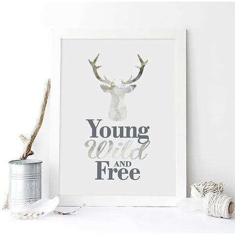 Ginger Monkey Young, Wild & Free Print