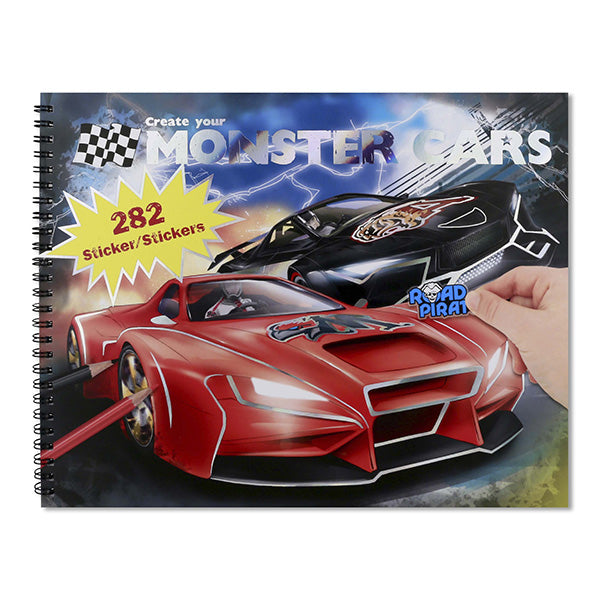 MONSTER CARS | Create Your Own Monster Cars Colouring/Activity Book