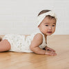 QUINCY MAE | Sleeveless Bubble Bodysuit Ivory