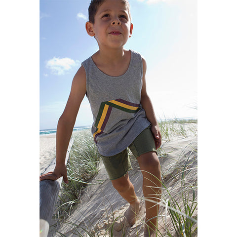 RAISED BY THE DESERT | Grant Singlet Expo Stripe Misty
