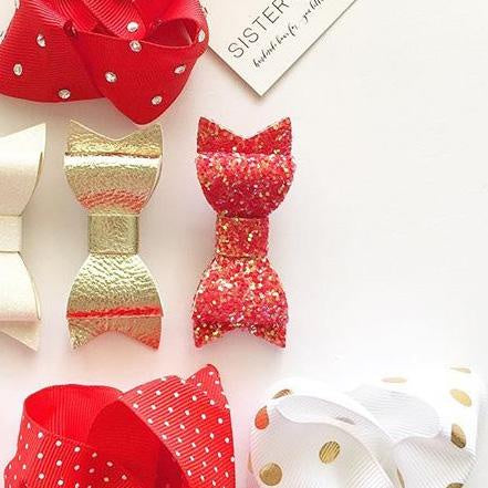 Glitter Sister Bows (VARIOUS COLOURS AVAILABLE)