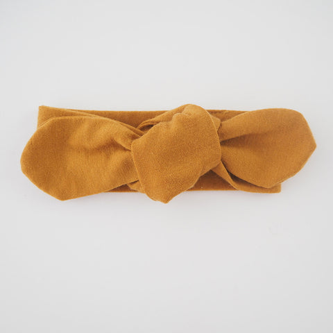 SNUGGLE HUNNY KIDS | Top Knot Headband - Mustard