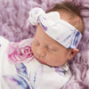 SNUGGLE HUNNY KIDS | Top Knot Headband - Lilac Skies