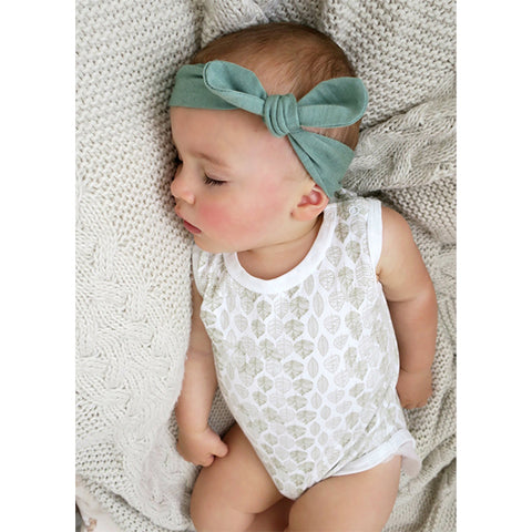 SNUGGLE HUNNY KIDS | Top Knot Headband - Olive
