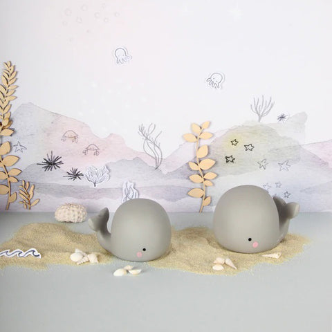 TEENY & TINY | Whale Rechargeable Night Light - Grey