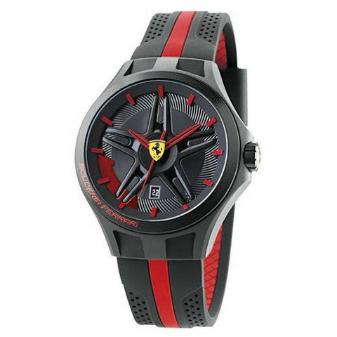 F1 LAP TIME BLACK/RED 44MM