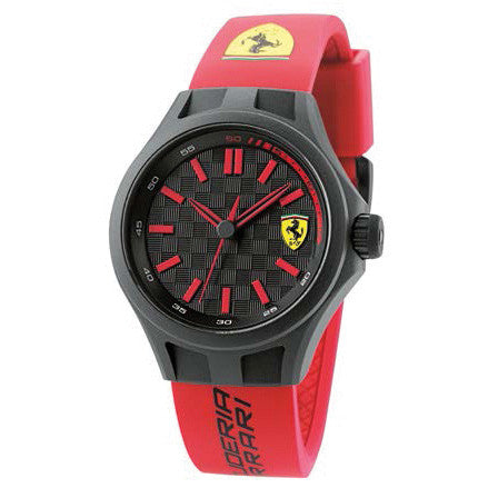 F1 PIT CREW RED/BLACK SCUDETTO 38MM