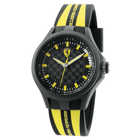 F1 PIT CREW WATCH YELLOW/BLACK SCUDETTO 44MM