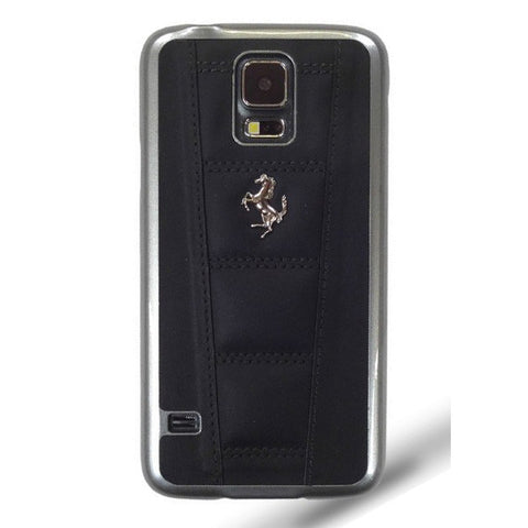 FERRARI 458 COVER GALAXY S5 LEATHER Black