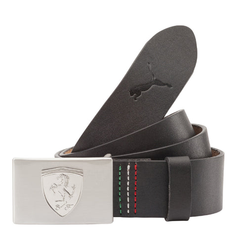 FERRARI LS LEATHER BELT Black