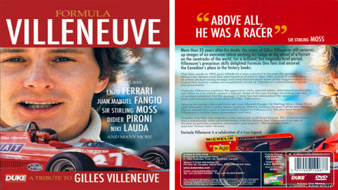 DVD GILLES VILLENEUVE TRIBUTE