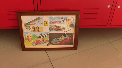 Painting Gilles Villeneuve 48x38cm With Frame