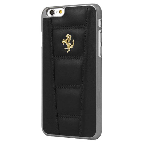 LEATHER HARD CASE IPHONE 6 4.7 Black - Gold