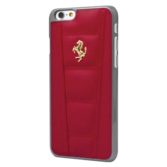 LEATHER HARD CASE IPHONE 6 4.7 Red - Gold