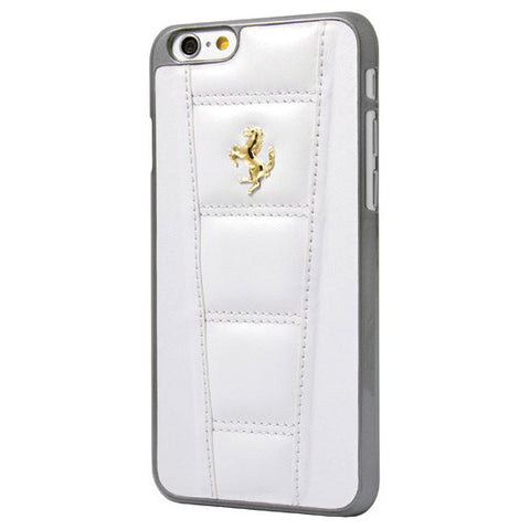 LEATHER HARD CASE IPHONE 6 4.7 White - Gold