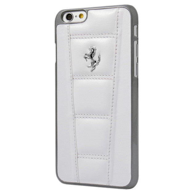 LEATHER HARD CASE IPHONE 6 4.7 White - Silver