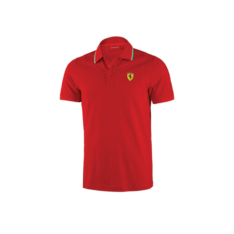 MENS ITALIAN COLLAR POLO SHIRT Red