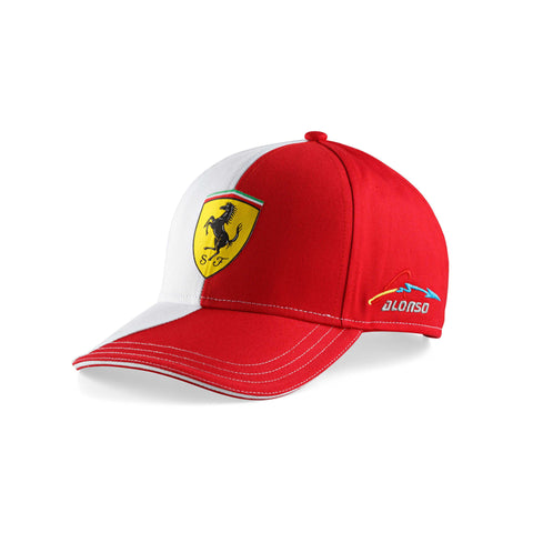 TWO COLORS ALONSO CAP Red - White