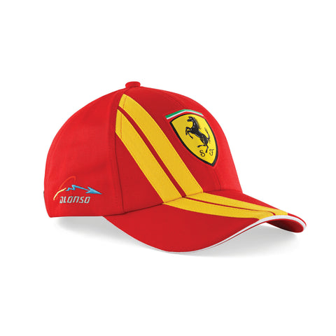 TWO COLORS ALONSO FLAT BRIM CAP Red - Yellow