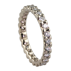 White Gold Eternity Rings, Handmade by Jana Reinhardt Ltd