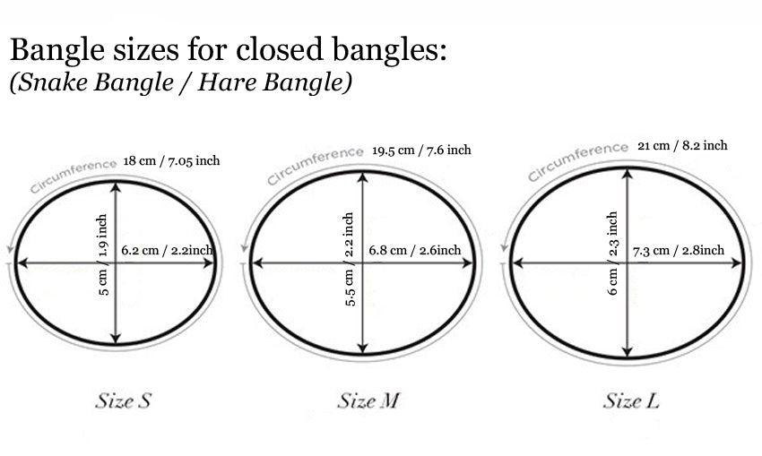 bangle sizing chart