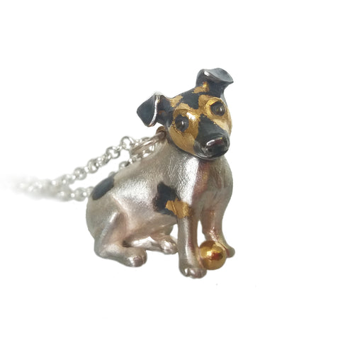 silver Jack Russell Terrier