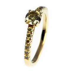 Yellow Diamond Rings with 18ct Yellow Gold Band by Jana Reinhardt Jewellery