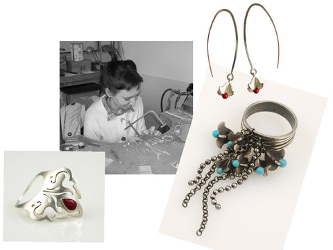 Jana and her first jewellery designs